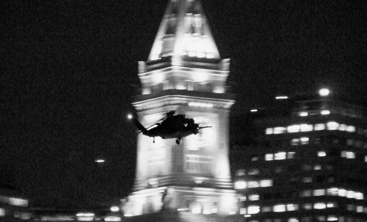 Helicopter over Custom House