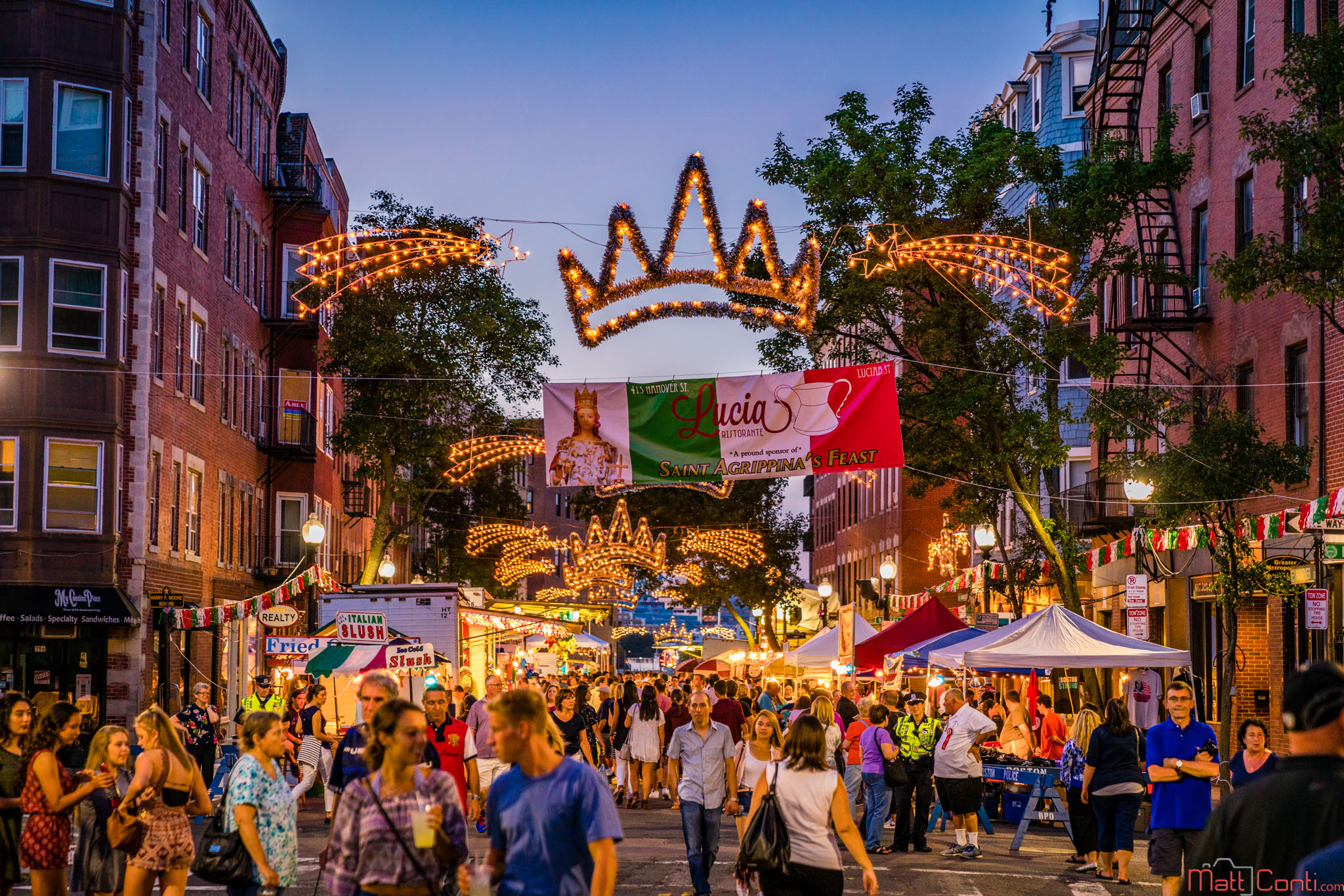 Hanover Street during a 2016 North End Feast