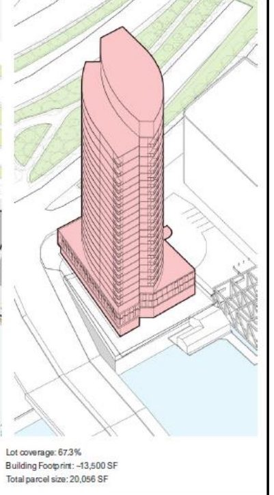 Possible configuration for a development on Hook Wharf - BRA Image