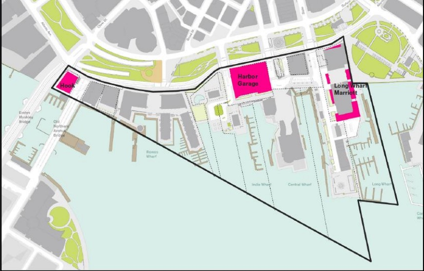 Downtown Waterfront Planning Area Development Parcels (BRA Image)