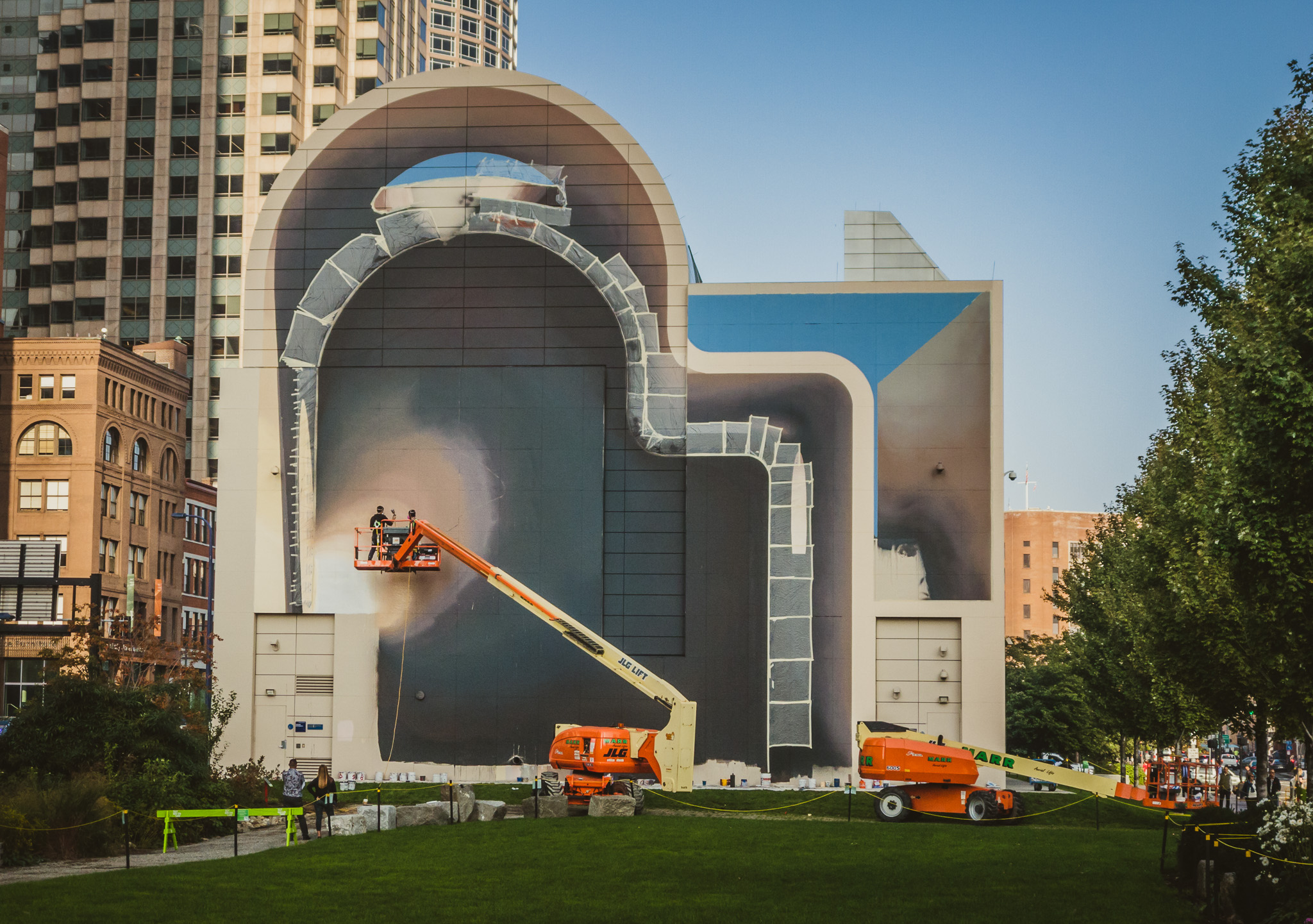 New mural coming to greenway spaces of hope by artist for Dewey square mural