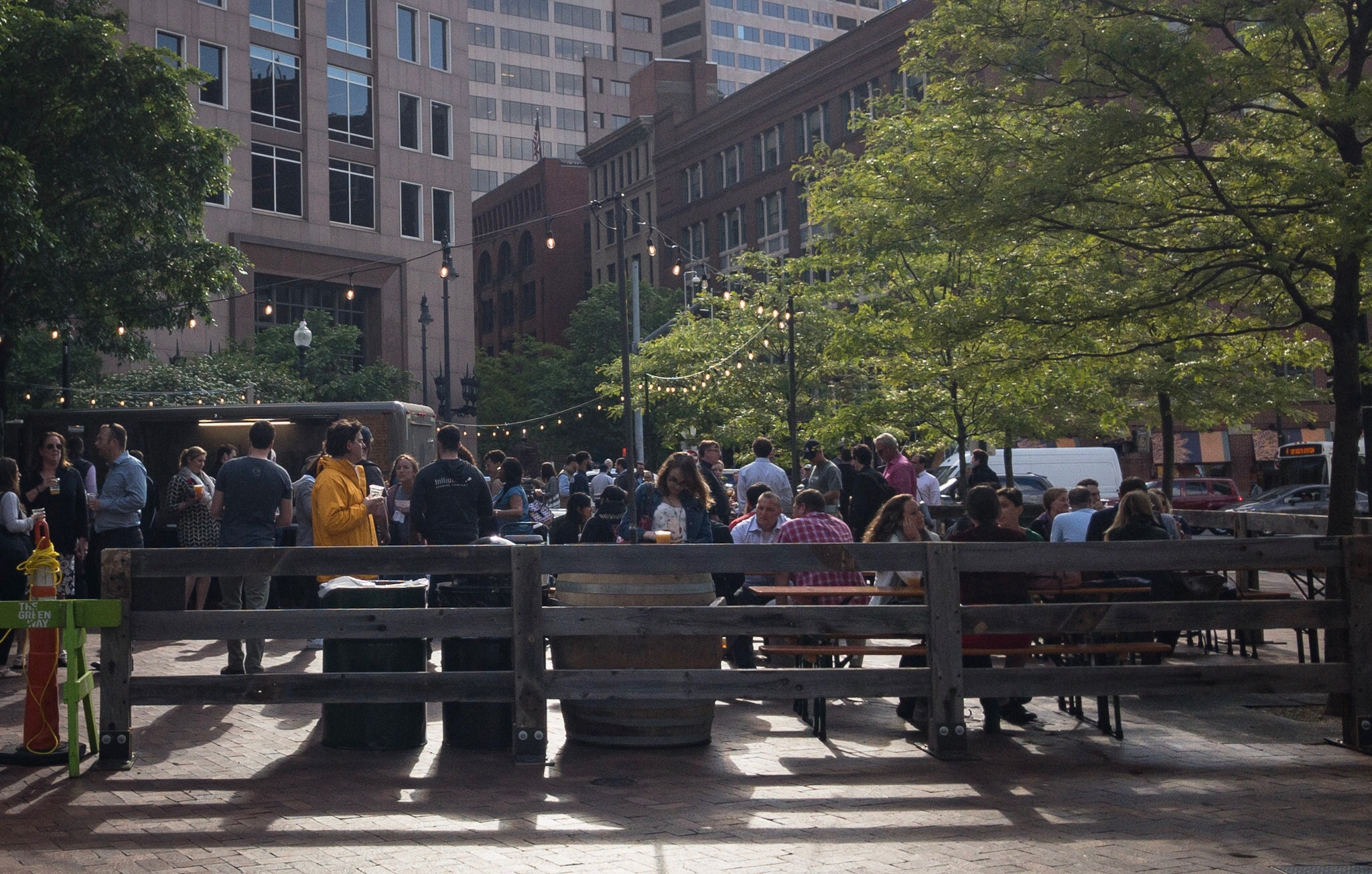 Trillium Beer Garden Opens On Greenway Across From Rowes Wharf