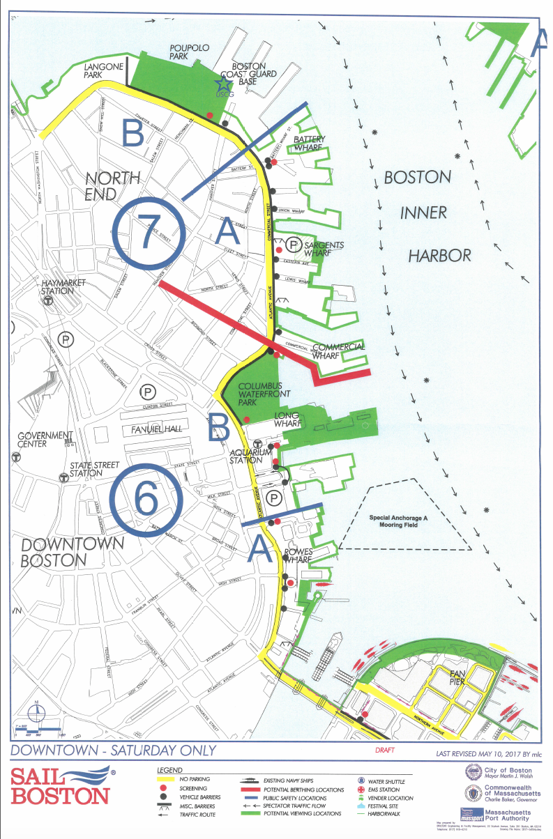 Several Additional Viewing Areas Are In The Seaport District And East Boston The Map Below Highlights Parking Restrictions Viewing Locations And Other