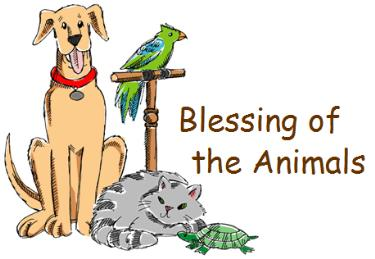 Blessing of the Animals on Sunday, September 30th
