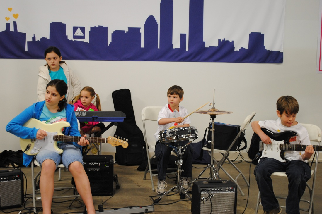 Nempac s before school rock band performs for bps