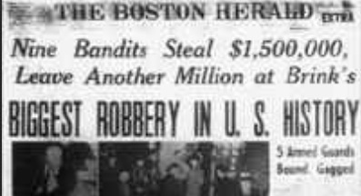 Image result for historic brinks robbery in 1950