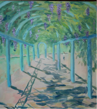 Paint the christopher columbus park trellis september 11 for Living room 101 atlantic ave boston