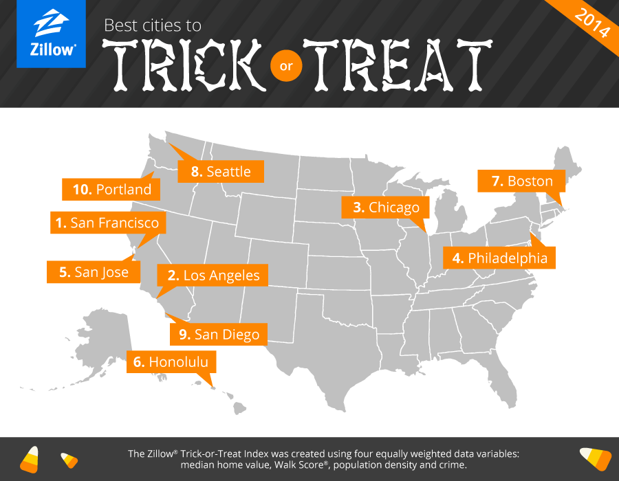 Trick Or Treat Map Boston Falls to Seventh on Annual Trick or Treat Index; North End  Trick Or Treat Map