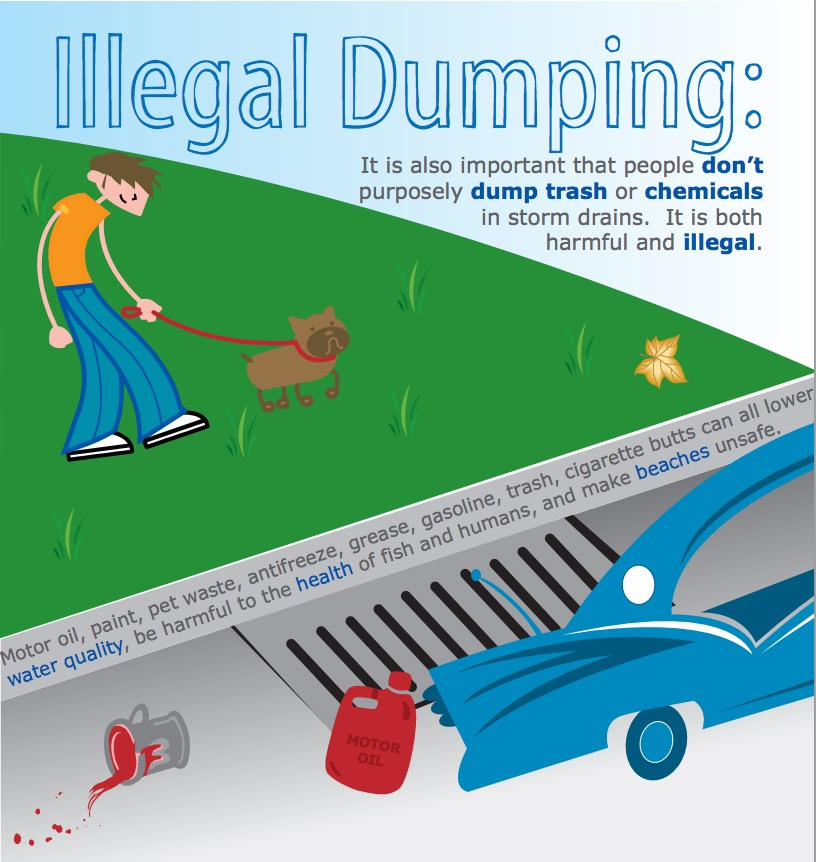 Storm Drains are Not Sewers! Don't Dump
