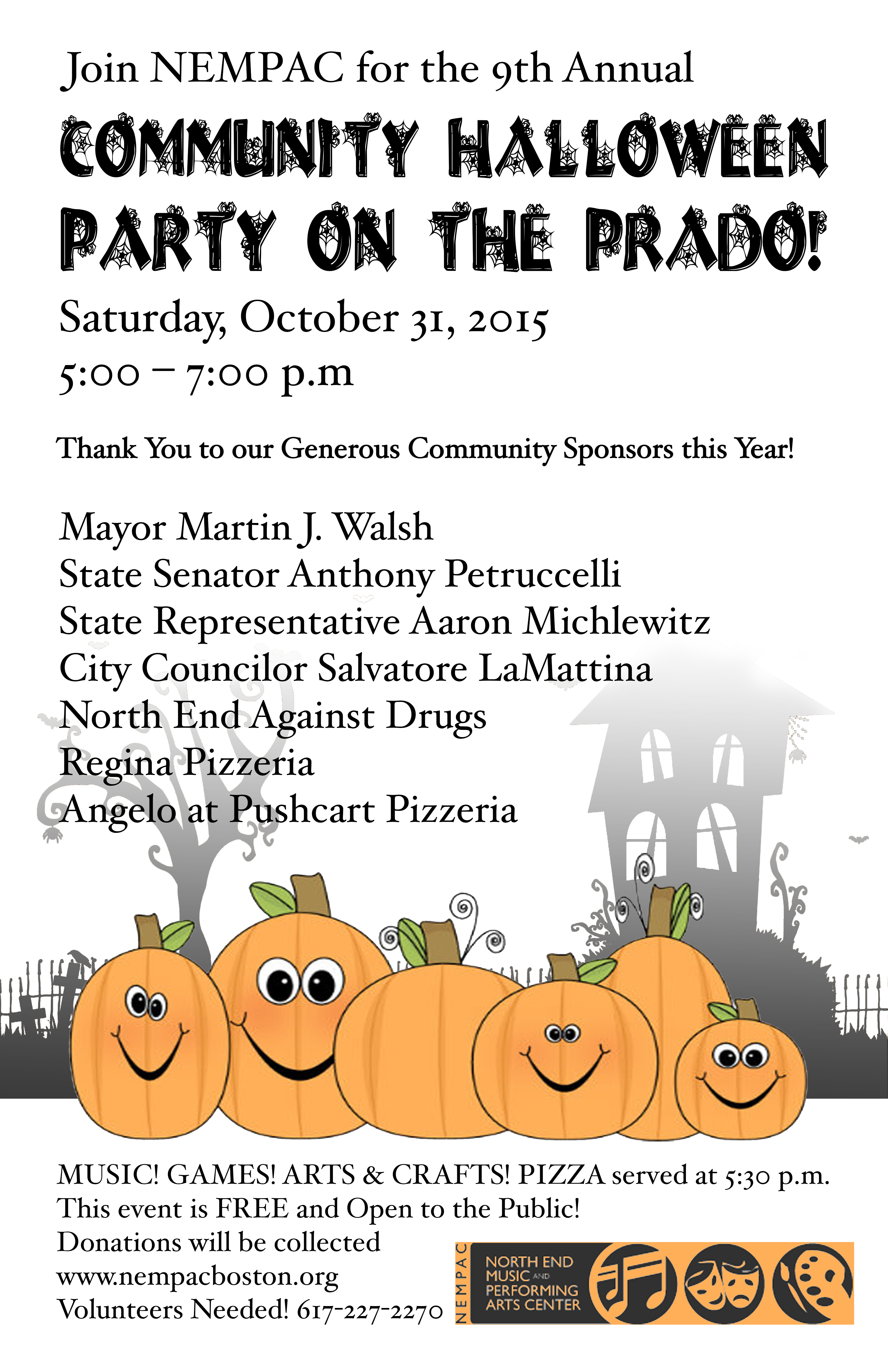 Join Us for NEMPAC's 9th Annual Halloween Party on the Prado ...