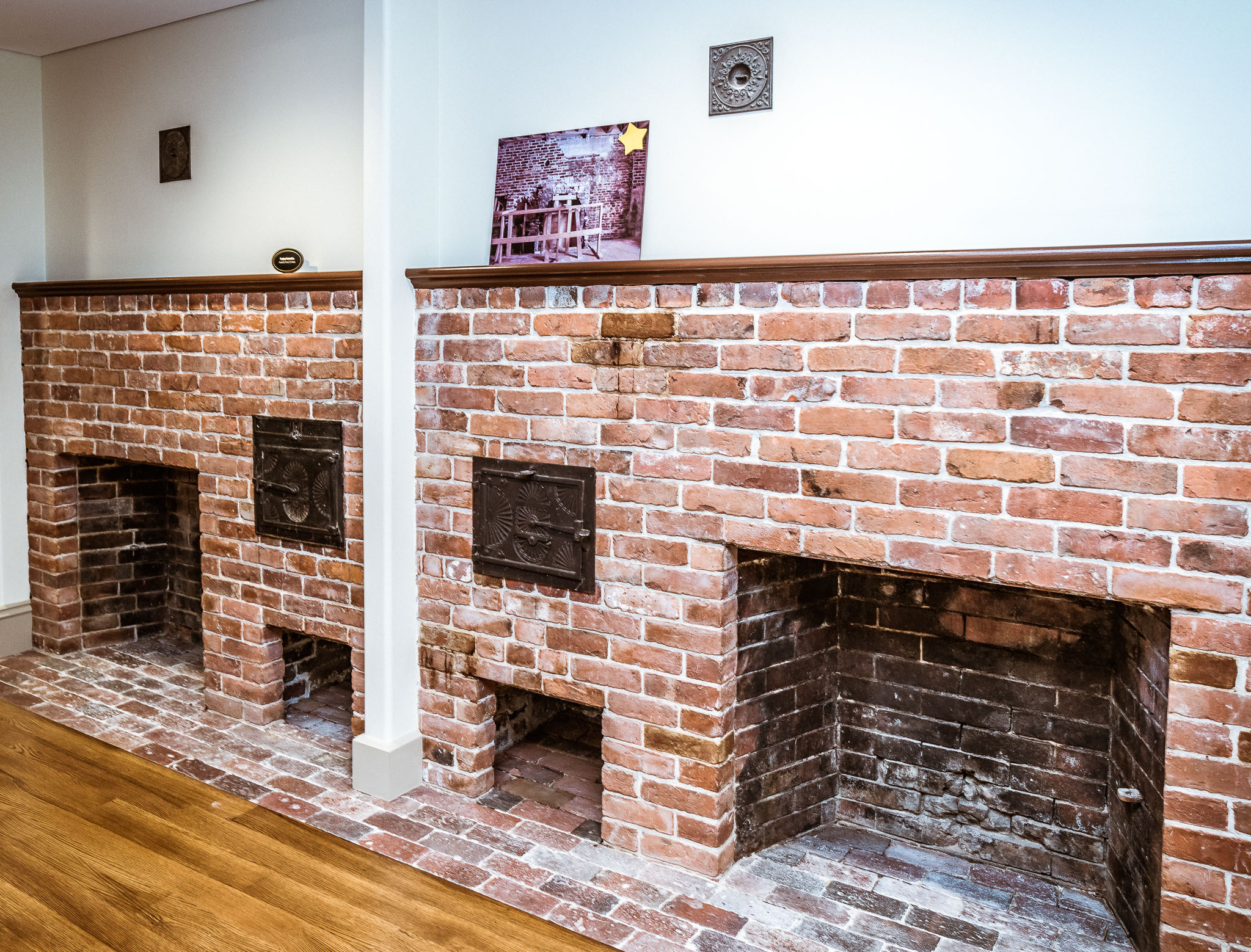 Dual Fireplaces At Lathrop Place Building