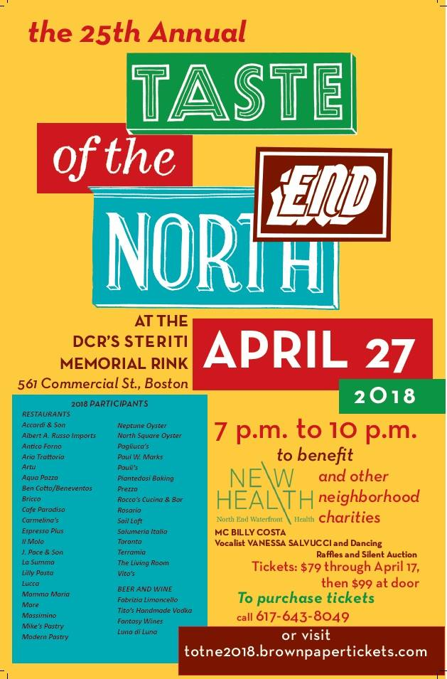 Taste Of The North End On Friday April 27 At Steriti Rink