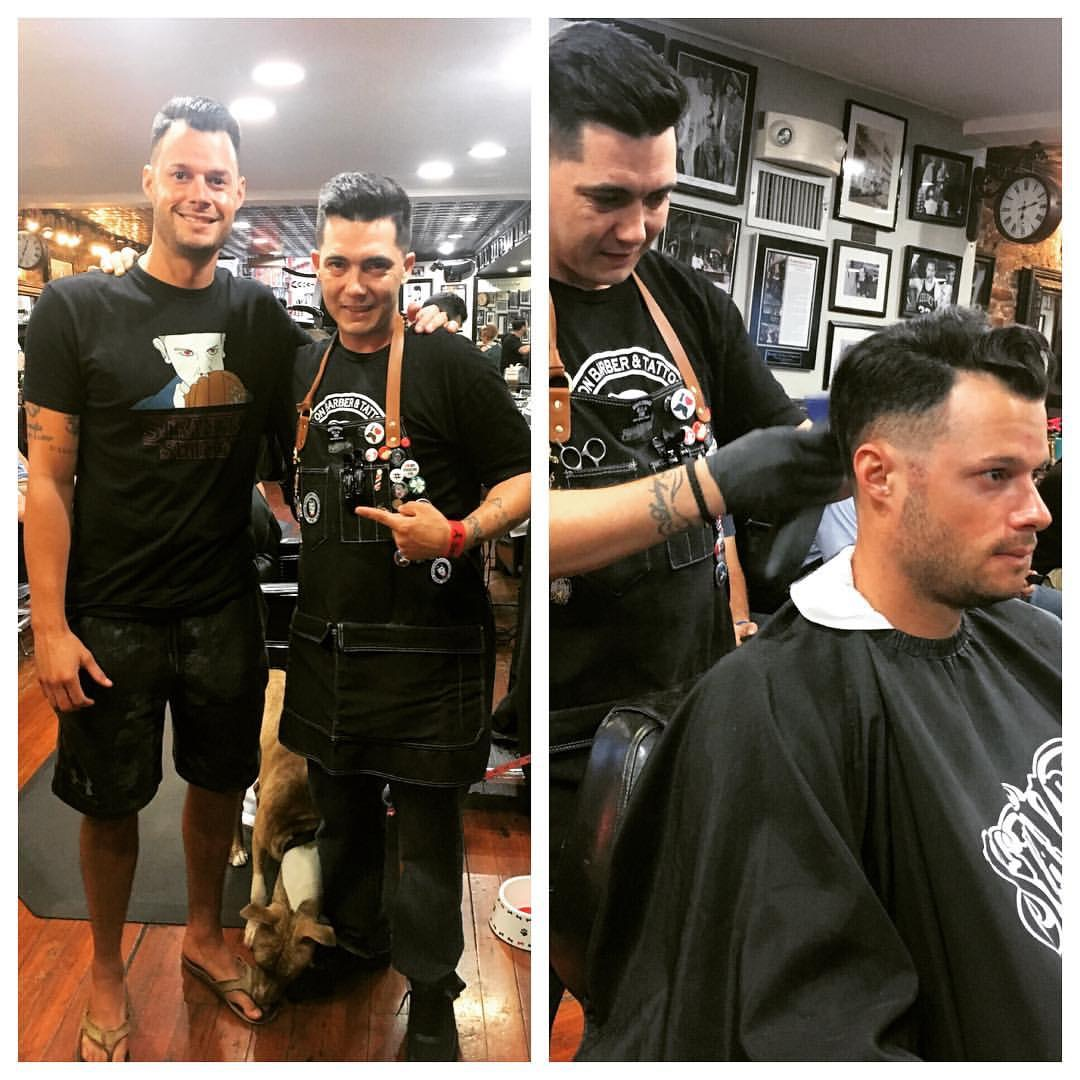 Joe Kelly from the Boston Red Sox stopped by the North End s Boston Barber  Shop for a cut. The haircut was done by South Boston native Arty Paige. 80647b175a0