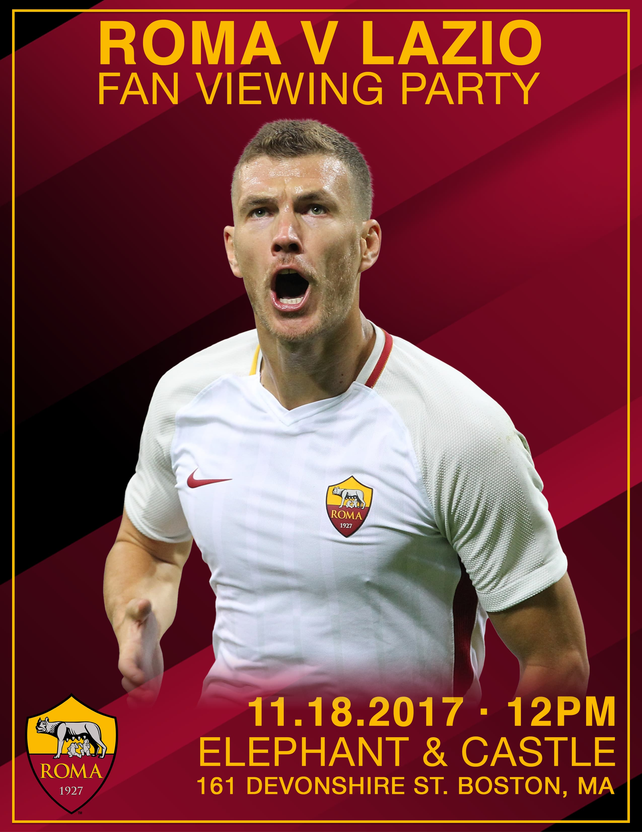AS Roma Viewing Party 11.18.17