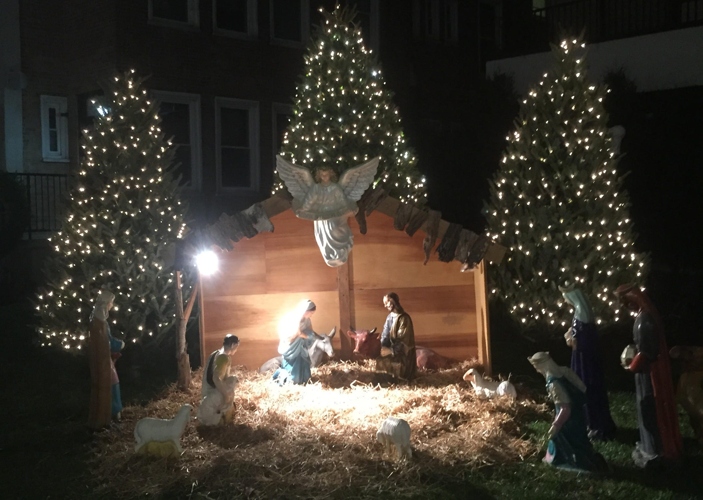 michael bonetti shares the christmas decorations and nativity