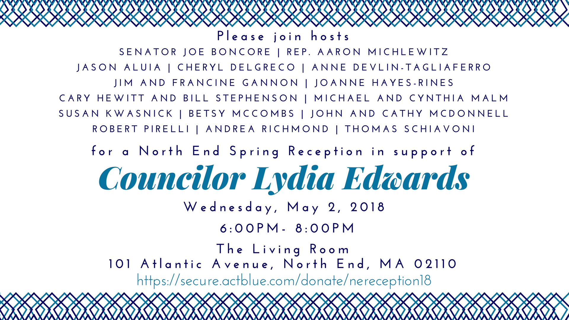 North End Spring Reception in Support of Councilor Lydia Edwards on ...